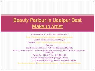 Beauty Parlour in Udaipur Best Makeup artist