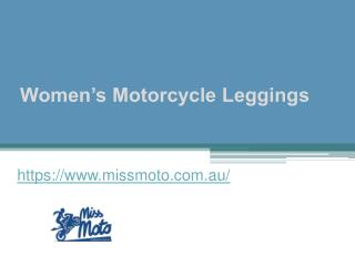 Women's Motorcycle Leggings - www.missmoto.com.au