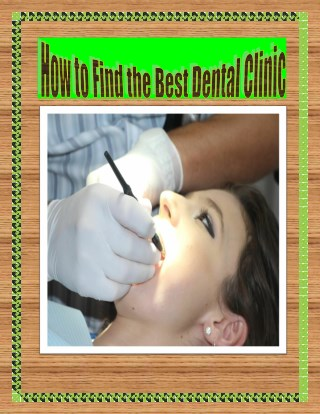 How to Find the Best Dental Clinic