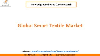 Global Smart Textile Market Growth