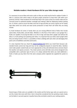 Reliable modern J-Hook Hardware Kit