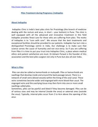 Piles treatment during pregnancy in Pune|Dr.Ashwin Porwal|Indiapiles