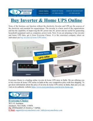Buy Inverter & Home UPS Online