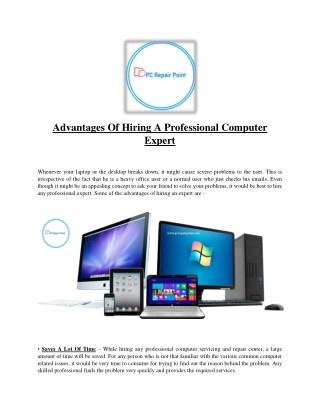 Advantages of hiring a professional computer expert