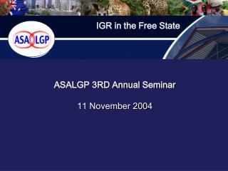 ASALGP 3RD Annual Seminar   11 November 2004