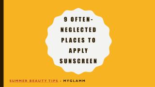 9 Effective Ways to Apply Sunscreen – MyGlamm Beauty Mantras