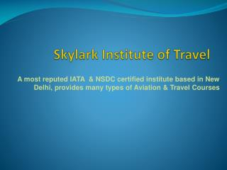 Skylark Institute of Travel - Travel & Tourism Courses