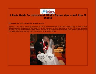 A Basic Guide To Understand What a Fiance Visa is And How It Works