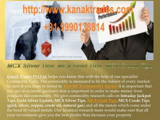MCX Silver Tips, MCX Gold Tips, MCX Crude Tips
