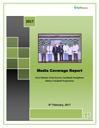 Kidney-transplant-programme-Coverage-Dossier.Fortis Healthcare
