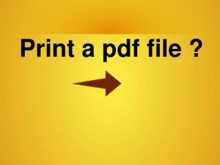 How can i print a pdf