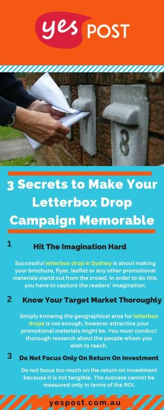 3 Secrets to Make Your Letterbox Drop Campaign Memorable