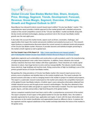 Global Circular Saw Blades Market Size, Share, Analysis, Price, Strategy