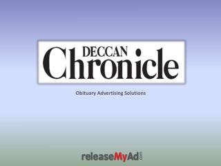 Deccan Chronicle Obituary Advertisement