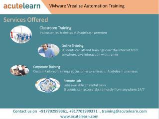 VMware Vrealize Automation Training