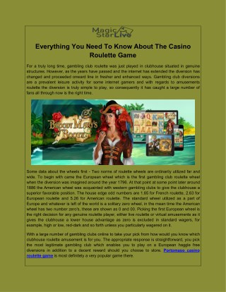 Everything You Need To Know About The Casino Roulette Game