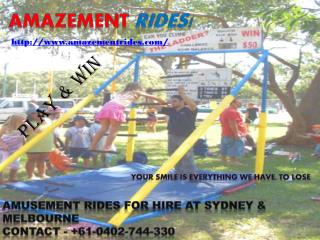 Amusement rides at your door step