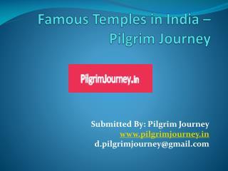 Famous Temples in India – Pilgrim Journey