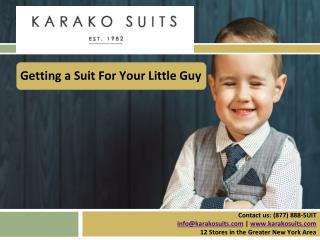 Getting a Suit For Your Little Guy