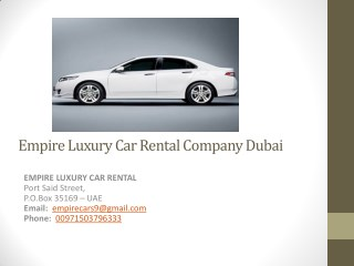 Economical Luxury Cars Rental Dubai
