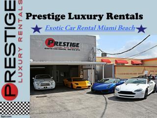 Exotic Car Rental Miami Beach