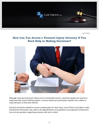 How Can You Access a Personal Injury Attorney If You Need Help in Making Decisions?