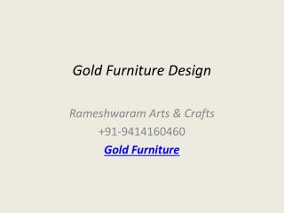 Gold Furniture Design