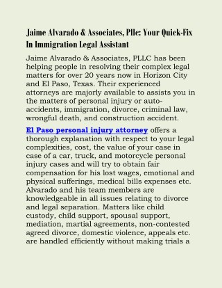 El paso personal injury attorney