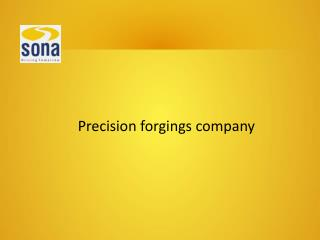 Learn about the Manuals of Precision Forgings Company