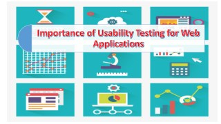 Importance of Usability Testing for Web Applications