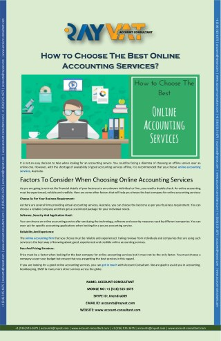 How to Choose The Best Online Accounting Services?