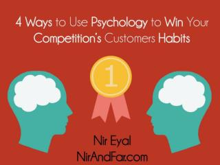 4 Ways to Win Your Competitor's Customer Habits