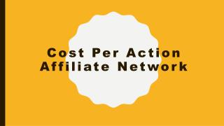 Cost per action affiliate network