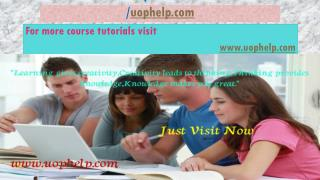 BSHS 465 Help A Guide to Career/uophelp.com