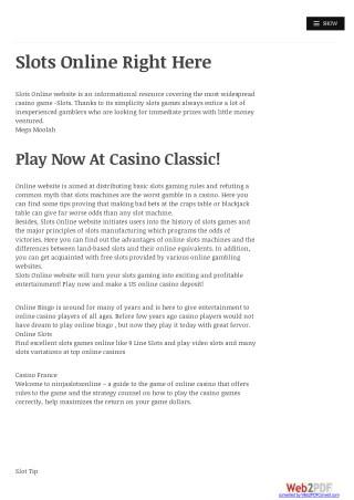Ninja Slot Online - Casino Game