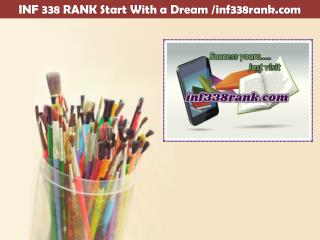 INF 338 RANK Start With a Dream /inf338rank.com