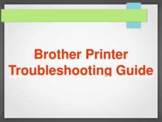 Brother Printer Troubleshooting Steps