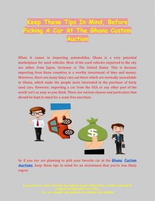 A Car At The Ghana Custom Auction