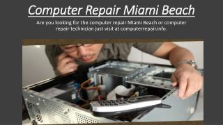 Computer Repair Miami Beach - computerrepair.info