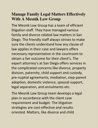 Divorce Attorney San Diego