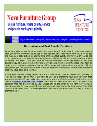Buy Unique and Best Quality Furniture