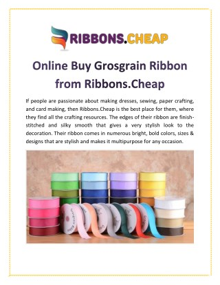 Online Buy Grosgrain Ribbon from Ribbons.Cheap