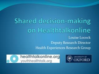 Shared decision-making on Healthtalkonline