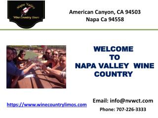 Napa valley california tours