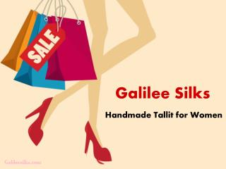 Best design of handmade tallit for women available at Galilee Silks