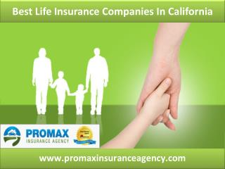 best life insurance companies in California