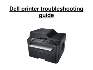 Dell printer troubleshooting guide