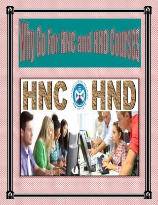 Why Go For HNC and HND Courses