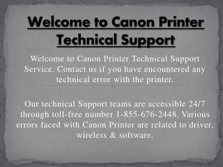 Canon Printer Help Support Number