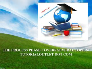 THE PROCESS PHASE COVERS SEVERAL TOPICS/ TUTORIALOUTLET DOT COM